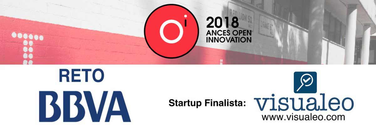 Cartel con Visualeo como startup finalista