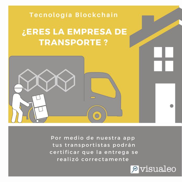 Infografia para que las empresas de transporte usen Visualeo