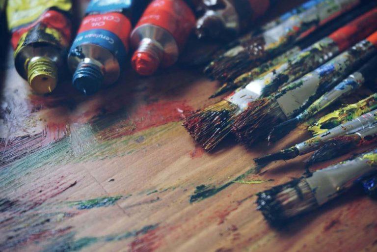 pinceles del sector del arte y la restauracion