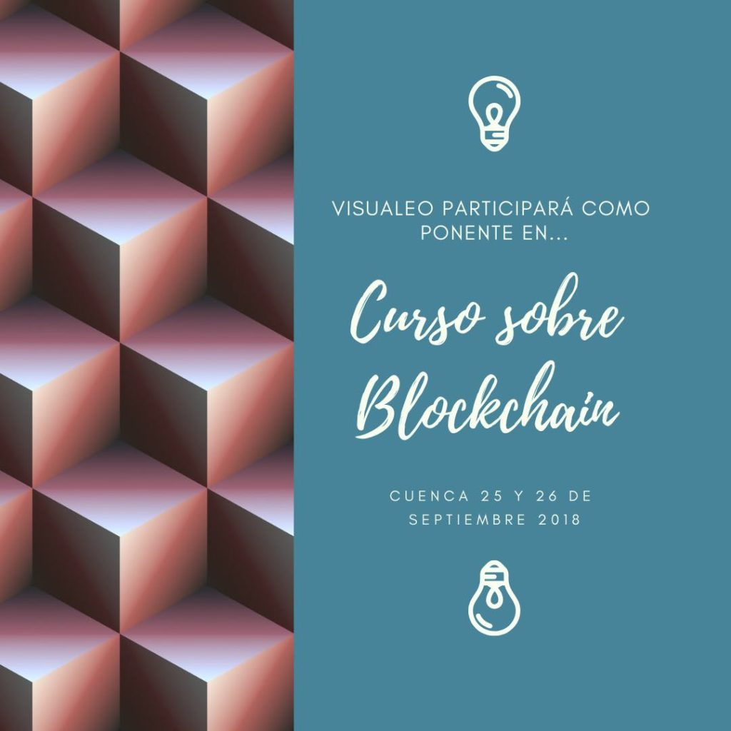 Cartel Visualeo curso blockchain
